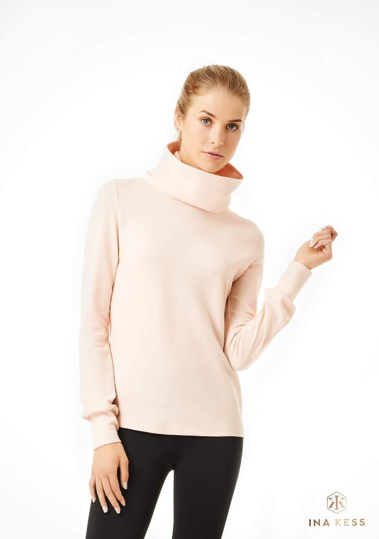 Merino Turtleneck Sweater rosa cipria