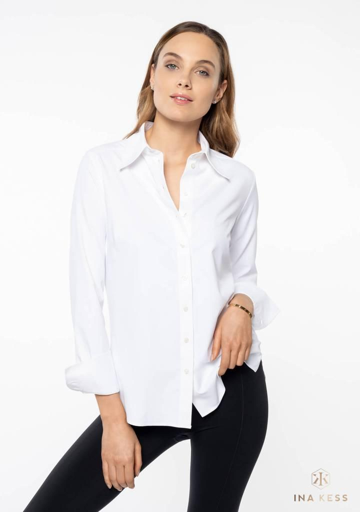 The Classy White Stretch Shirt