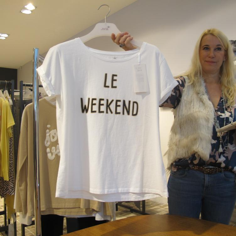 Washed CO Shirt 'le week-end'